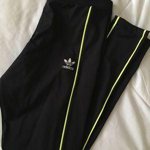 black adidas originals leggings size small